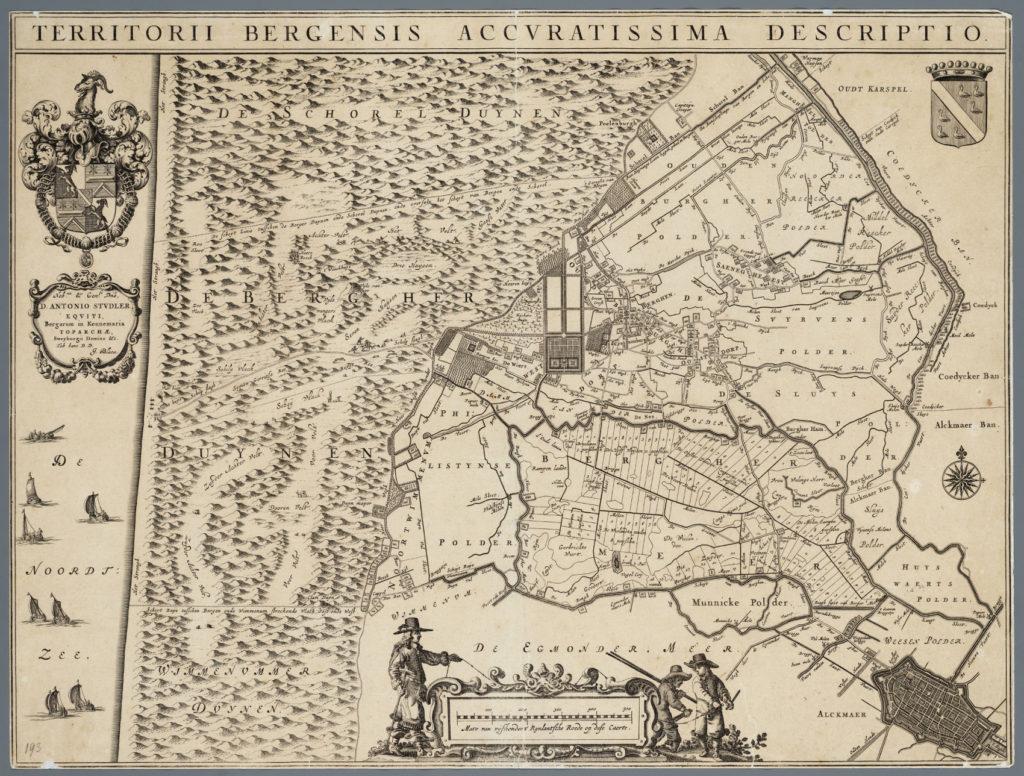 Kaart van de heerlijkheid Bergen