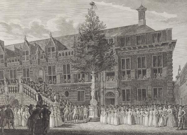 Het planten van de vrijheidsboom in Alkmaar, 1795