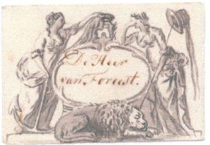 Visitekaartje voor Cornelis van Foreest (1788)