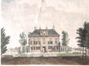 De achterzijde van het huis Nijenburg, 1811