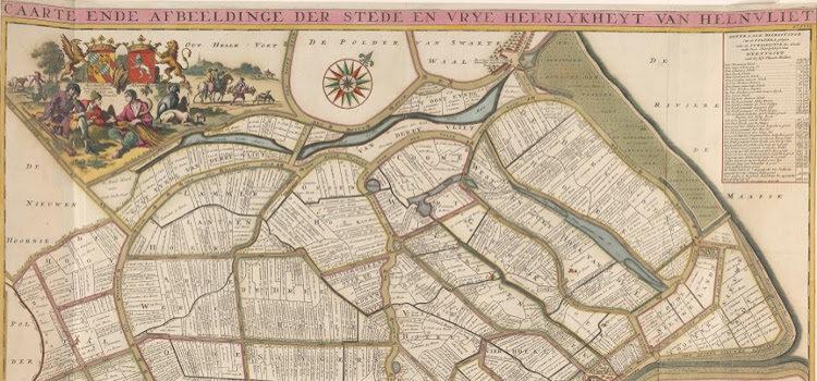 Kaart van de heerlijkheid Heenvliet, Jan Stemmers, naar A. Steyaart, 1701. Rijksmuseum Amsterdam